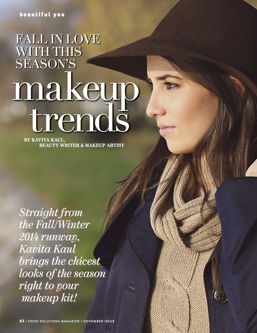 Fall Makeup Trends by Kavita Kaul for Food Solutions Magazine