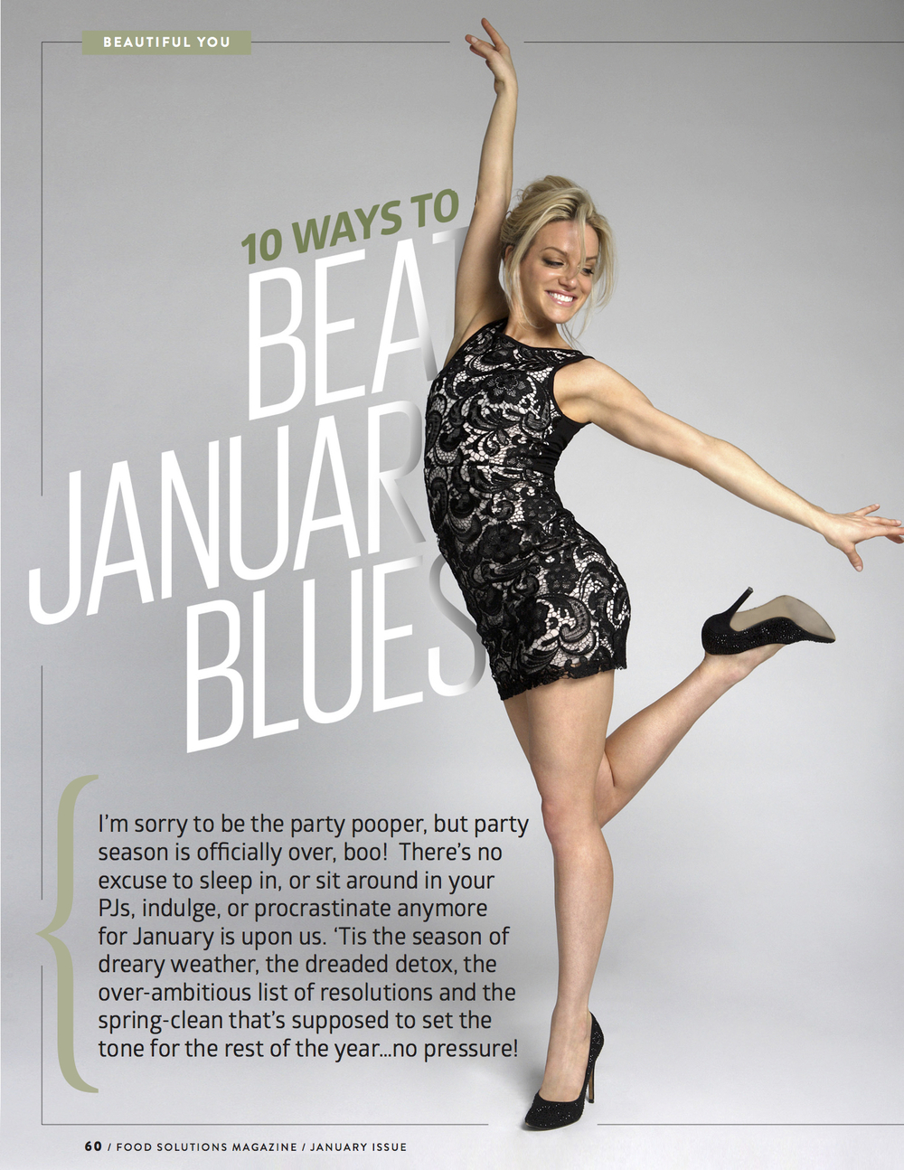 Beat the January Blues by Kavita Kaul for Food Solutions Magazine