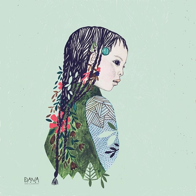 I hope you all had some beautiful days to wind up and relax with friends and family 😊 Now it's back to work but first something different, a little portrait after a photographer I just discovered #mariocolonel and whose work blows me away . . . #creativemom #lovetodraw #girlsketch #becreative #makeartthatsells #leafylove #danadesignillustration