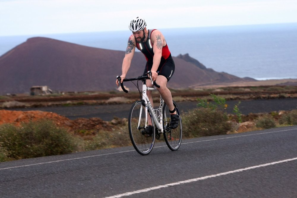 Lanzarote Triathlon - very hot, very windy, very hilly!
