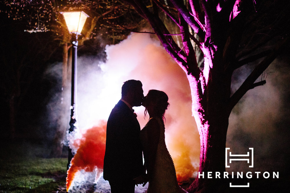 Matt Herrington wedding photographer Lancashire smoke bombs