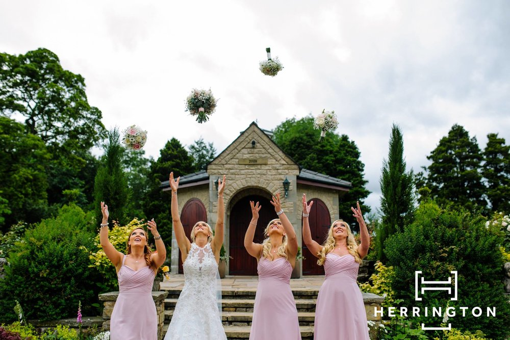 Bridesmaids pictures Matt Herrington Wedding Photographer Lancashire North West