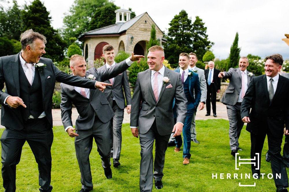 Groomsmen pictures Matt Herrington Wedding Photographer Lancashire North West