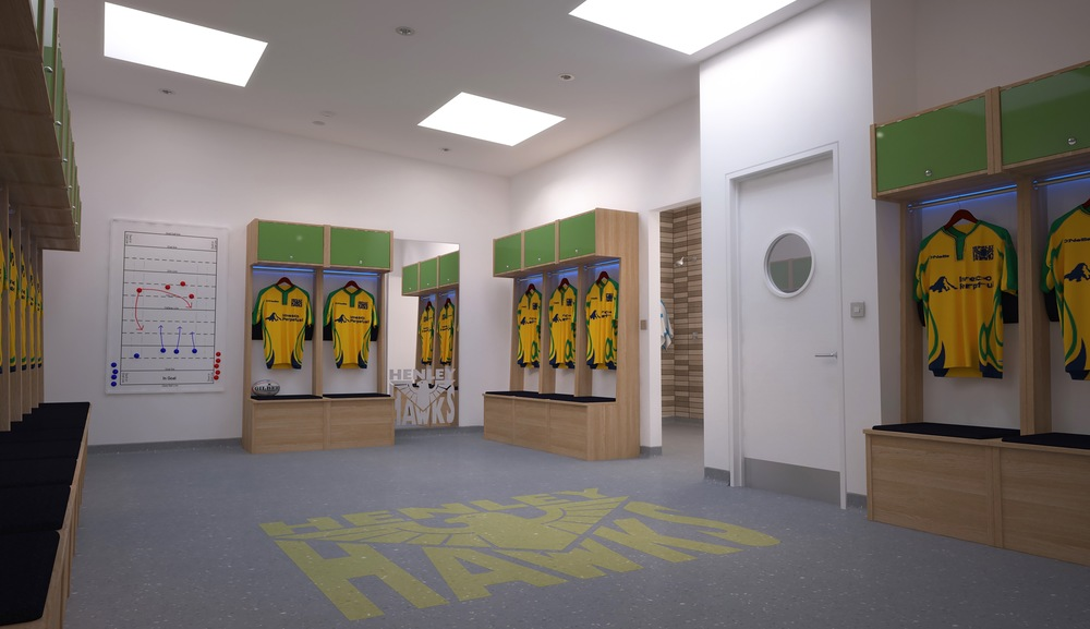 Interior of changing rooms