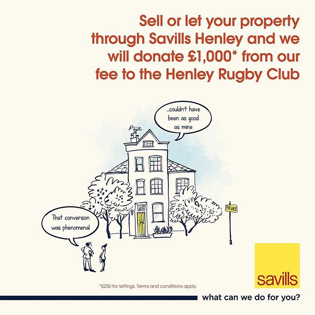 A reminder to all Club members that @savills , one of our main partners, have a fantastic scheme in place whereby the Club receives £1,000 for any house sold through them. It's definitely something to consider if you're looking at moving in the near future!