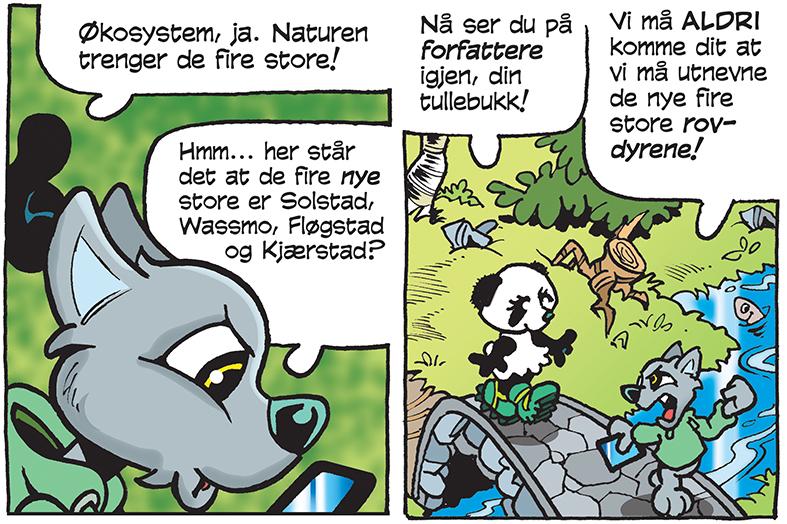 Vi har vært innom de dype skoger på Østlandet.