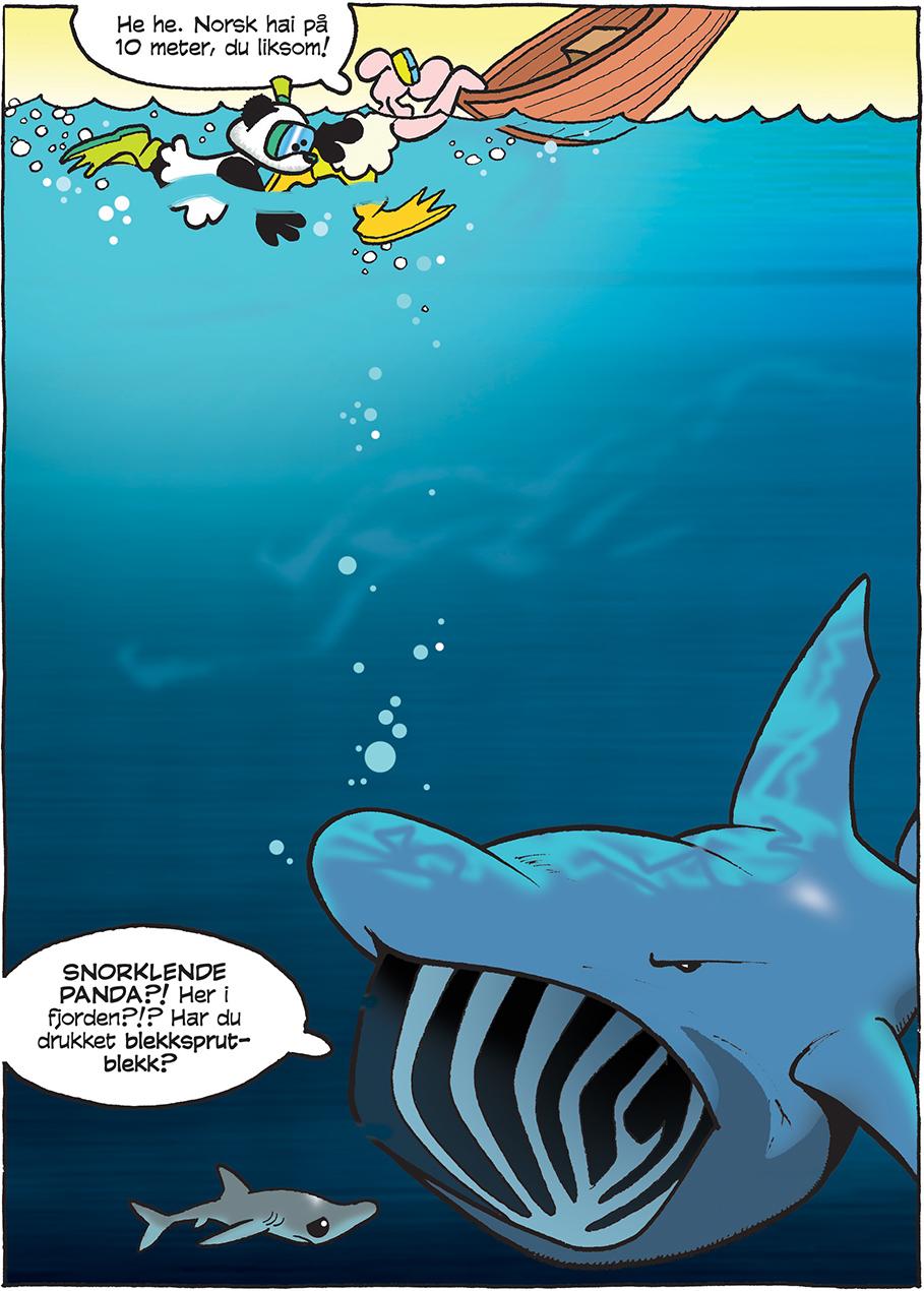 Fjordene er selvsagt besøkt, de også. Og da for å snorkle med norske haiarter, ikke for å dumpe gruveslam slik norske myndigheter foretrekker.