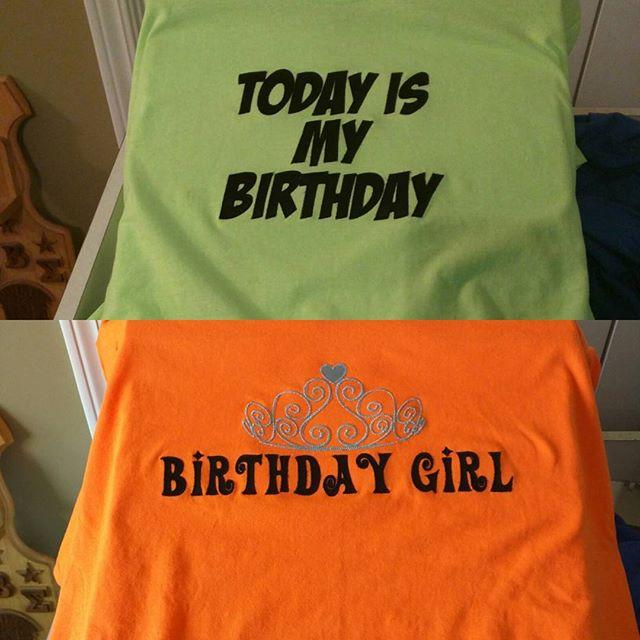 Custom birthday shirts by request. #220customs