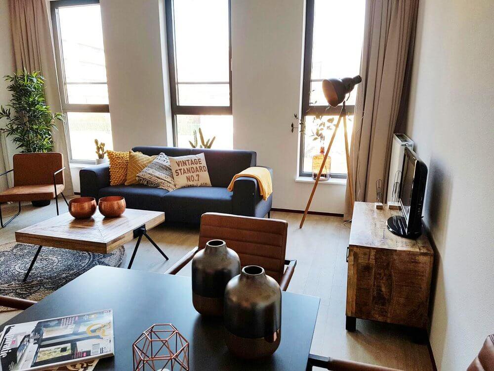Inrichten Klein Appartement : Vintage & urban inrichting studio appartementen home inspirations