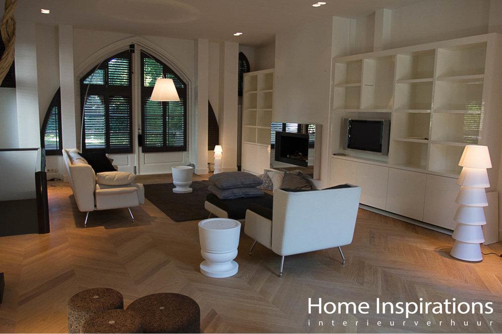 Exclusieve witte meubels woonkamer