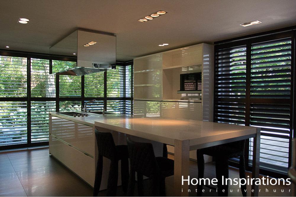 Luxe keuken wit hoogglans