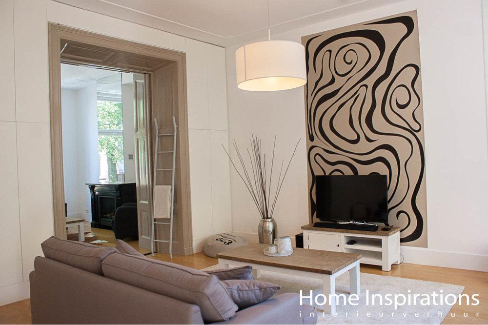 Zithoek woonkamer landelijk exclusief meubilair
