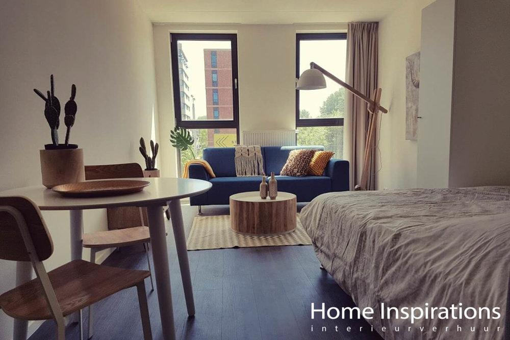 Totale inrichting 1-kamer appartement retro stijl