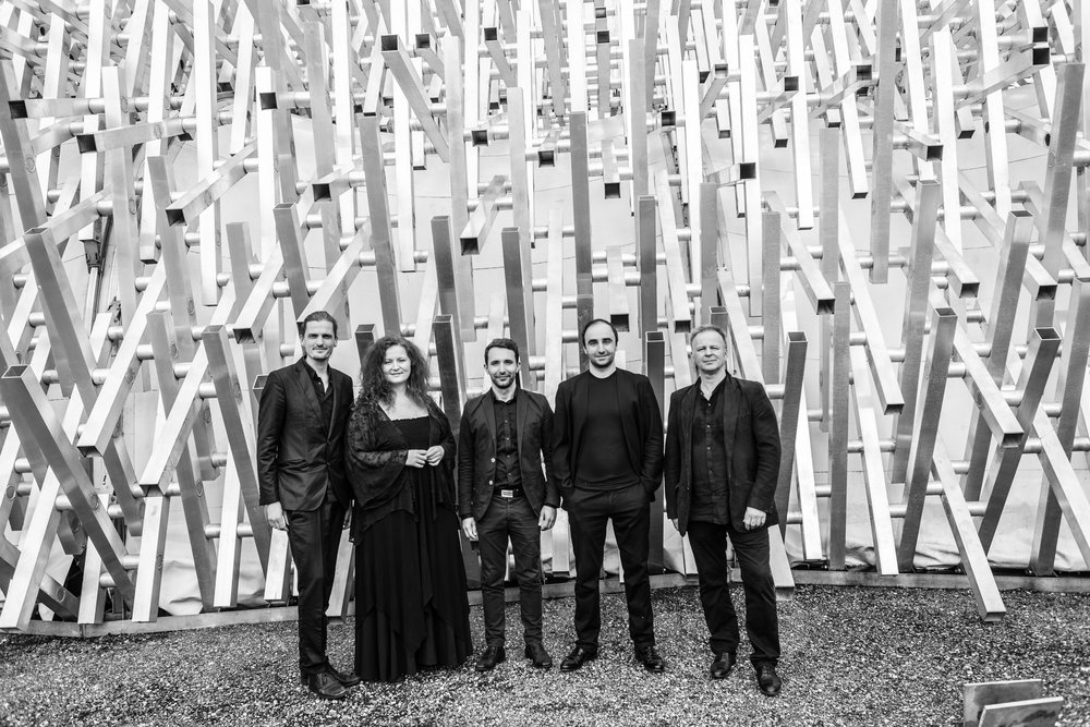 Martina Eisenreich Quintett, 2016. Fotography by Charly Rabanser. (Black & White, Print Resolution, 9 MB)