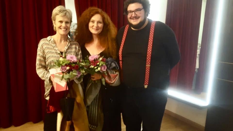 """Die Komponistinnen Rachel Portman und Martina Eisenreich mit Axel Ranisch (Regisseur, """"Tatort:Waldlust""""). Foto: ©Roswitha Mannseicher"""