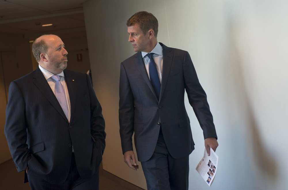 WSLD Chairman Christopher Brown with NSW Premier Mike Baird