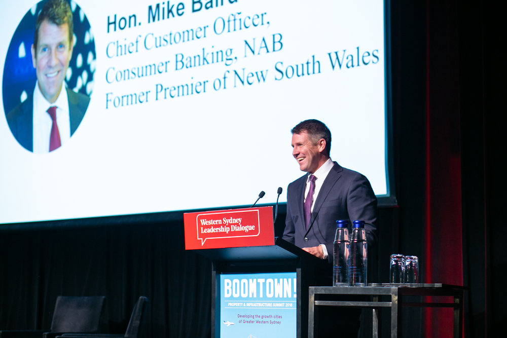 Hon. Mike Baird at the Dialogue's Inaugural Pre-Boomtown Dinner
