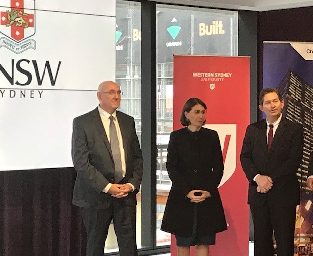 UNSW President and Vice-Chancellor Professor Ian Jacobs, NSW Premier Gladys Berejiklian, &  WSU Vice-Chancellor and President Prof. Barney Glover