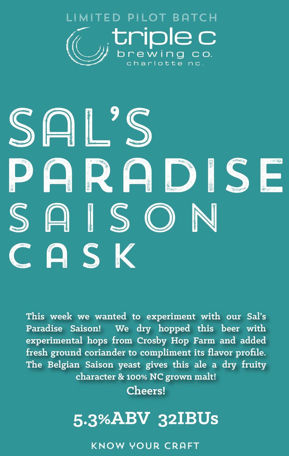 Sals Paradise Saison Cask
