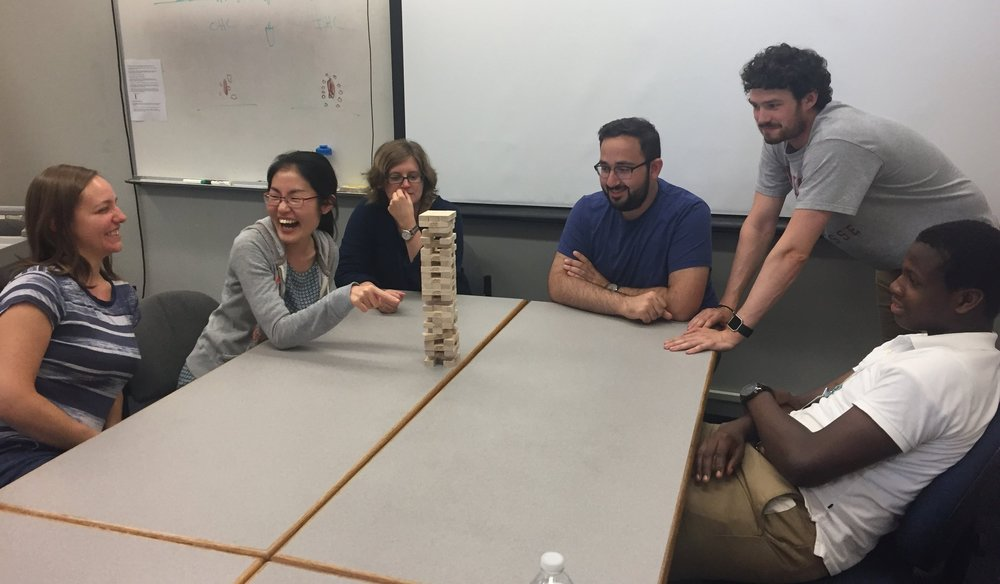 2017 (from left: Kat Schrode, Ye-Hyun Kim, Amanda Lauer, Hamad Javaid, James Engel, Omo Odedoyin)
