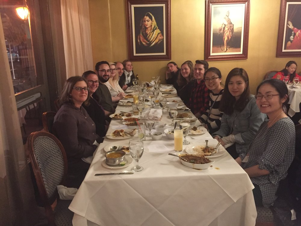 Dinner with collaborators: Dent and Xu-Friedman labs from the University at Buffalo