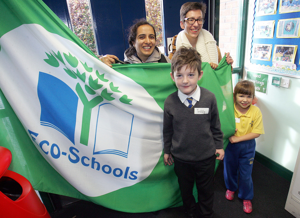 Delegates had the opportunity to visit Belmont Primary School to see their excellent Eco-Schools work. Pictured with Teddy Myles and Katie Walker from Belmont Primary School are Sukhprit Kaur, Eco-Schools India and Agnieszka Pabis, Eco-Schools Poland.