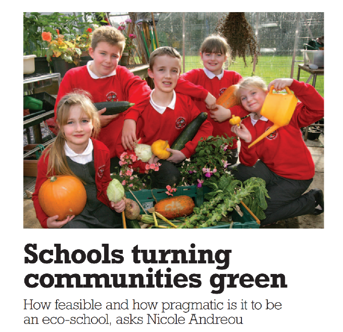 Article published: Schools Turning Communities Green