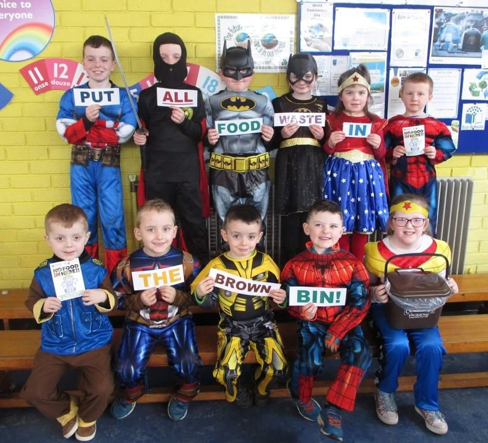 Pupils from St Joseph's Primary School, Cookstown, prove they are Food Waste Superheroes.