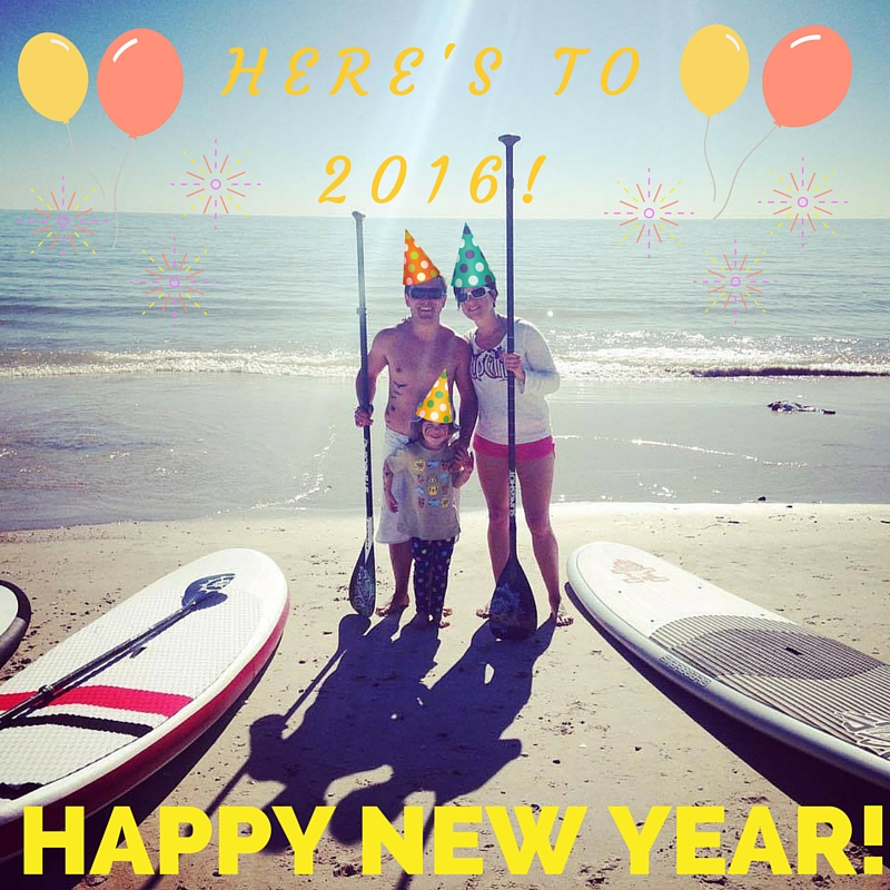 New Year's Eve 2015-16 personal rehab trainer adelaide surf sup family