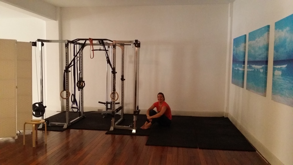 Moov Personal Training Adelaide: My Power Rack dragging helper