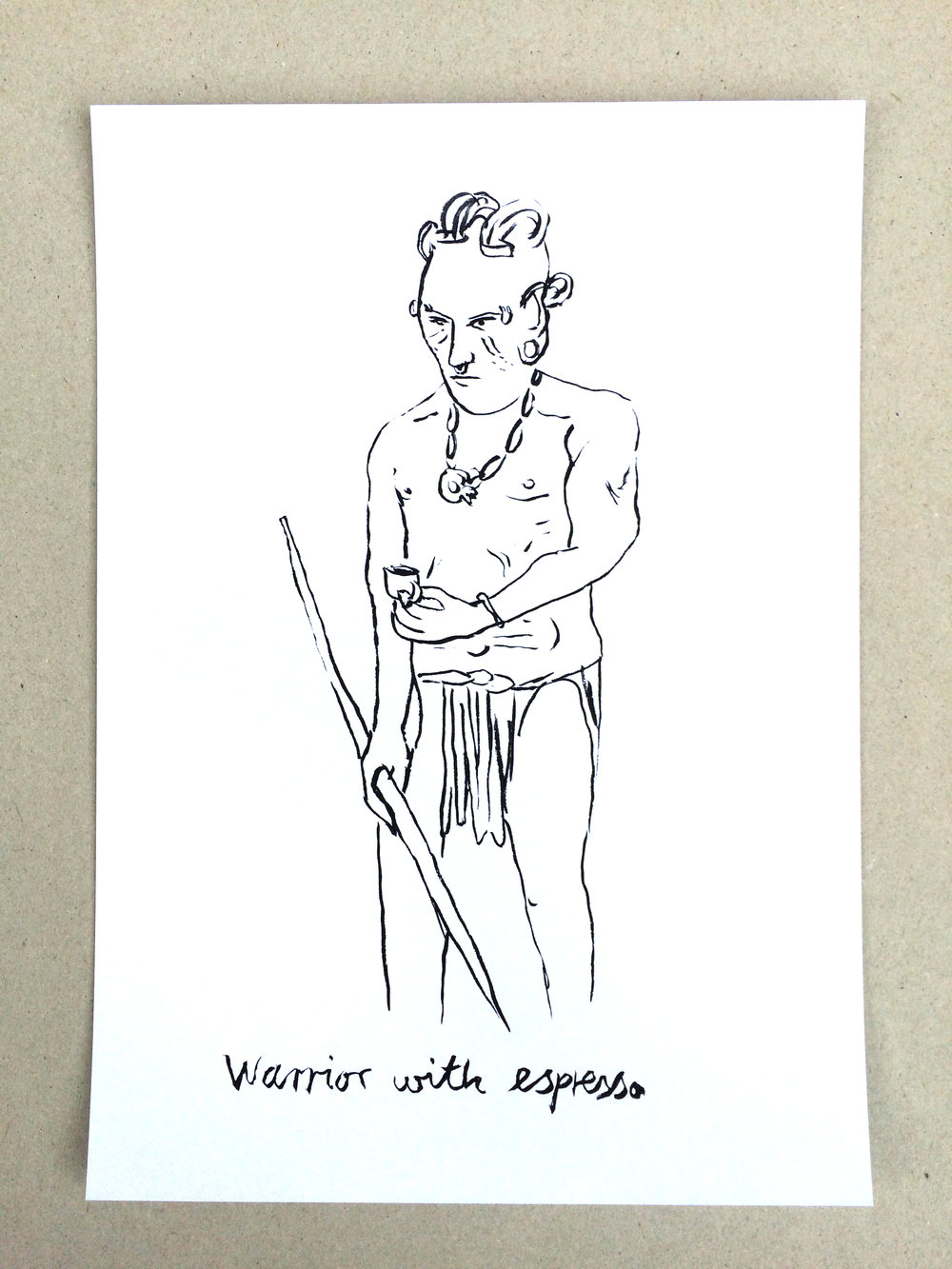 Markus Vater, edition on paper drawings. A4 signed, 25 GBP