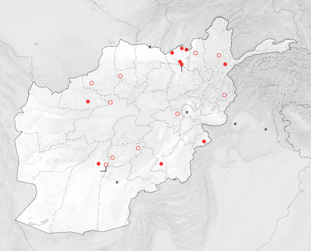 The Taliban are aggressively trying to seize territory in many parts of Afghanistan and have made some gains in pockets of several provinces
