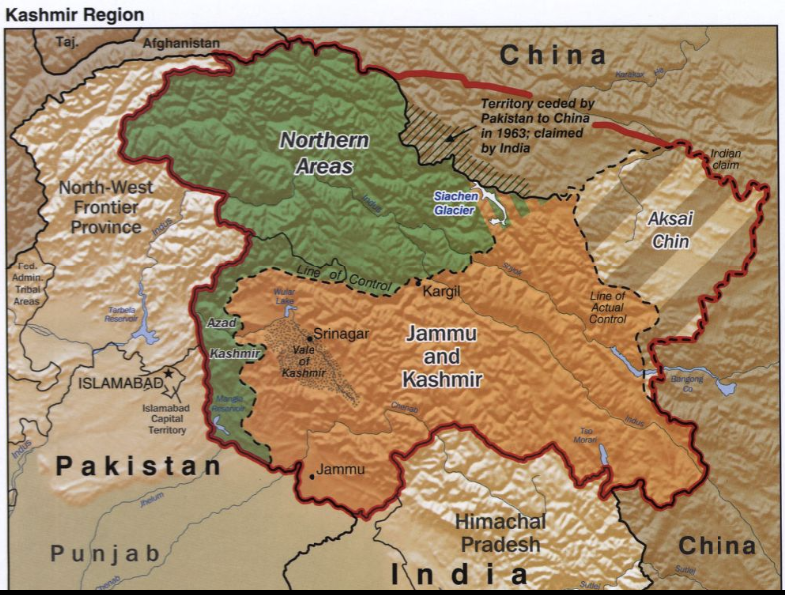 Map of the Kashmir Region
