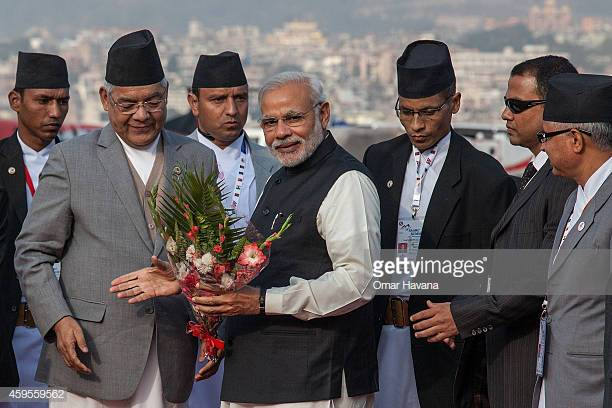 Prime Minister Modi meets the Nepal Delegation  Photo by Omar Havana/Getty Images News / Getty Images