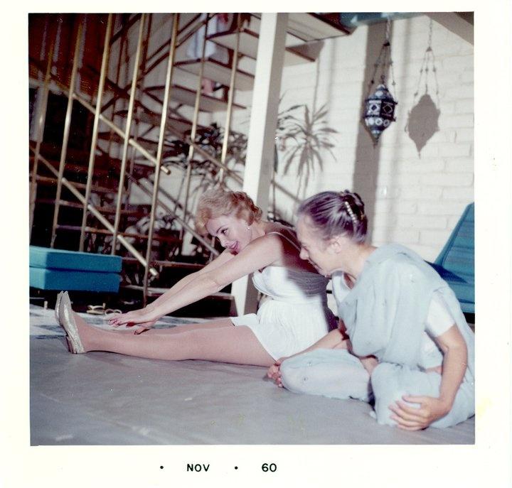 Eva Gabor and Indra Devi, 1960