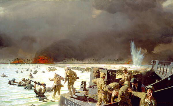 """Tarawa, South Pacific, 1943"" by Sergeant Tom Lovell, USMC Marine Corps Combat Art Collection"