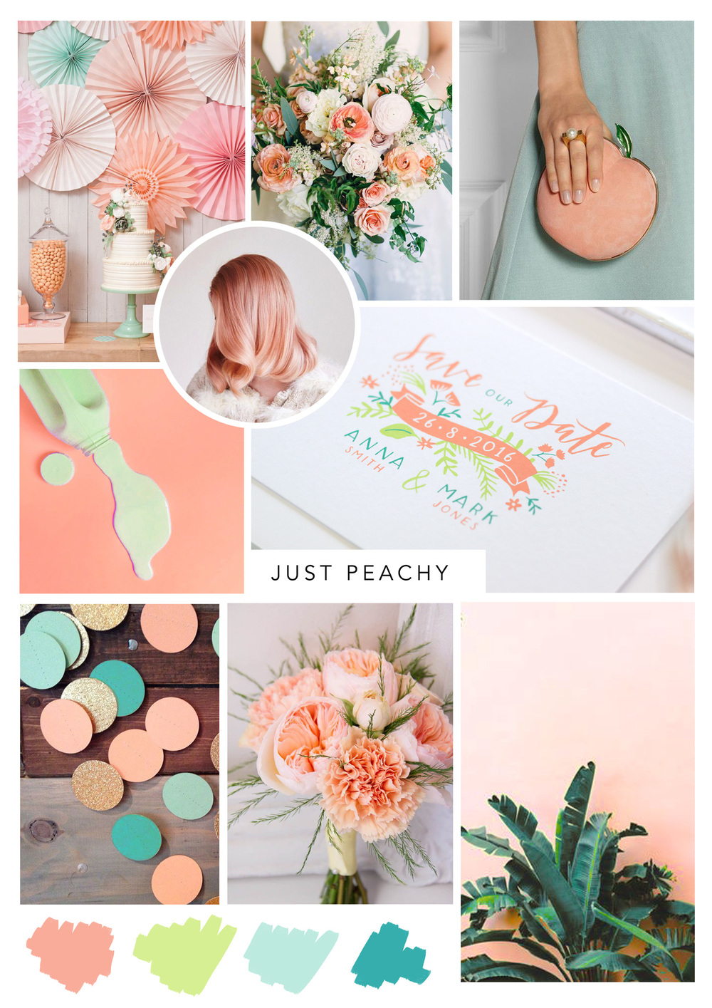 peach wedding palette