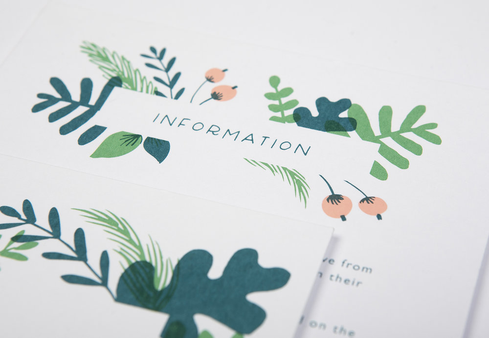 greenery wedding invite