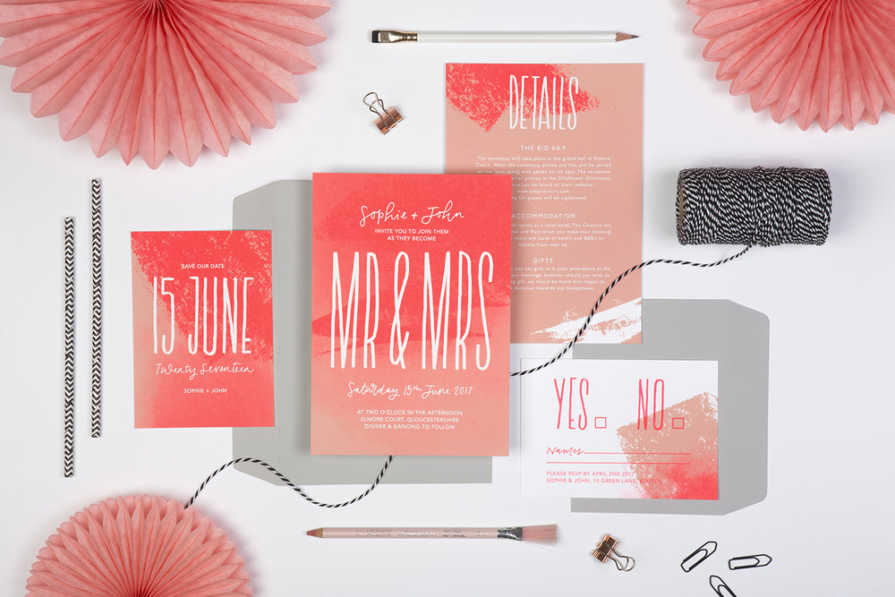 neon wedding invites
