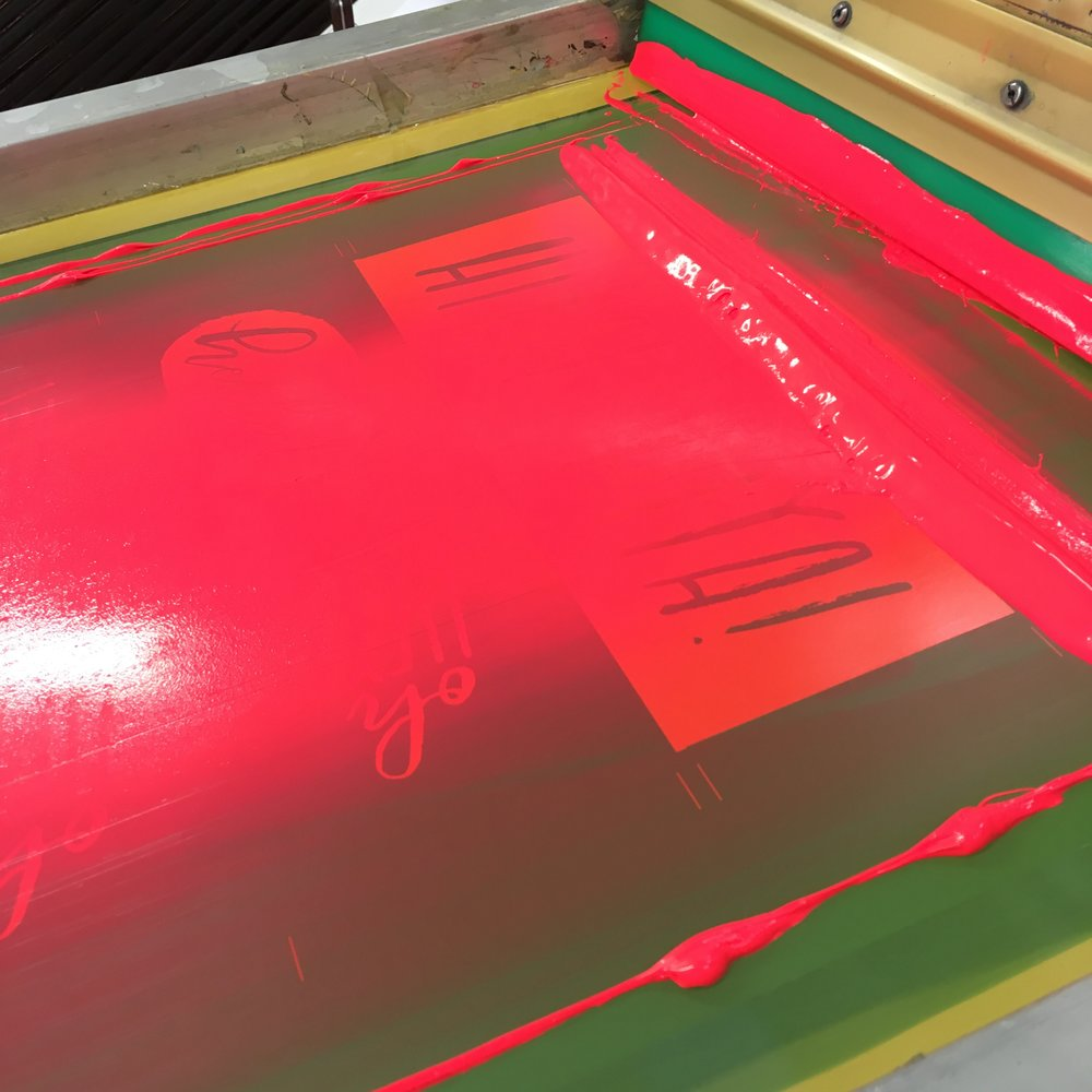 screen-printing neon ink