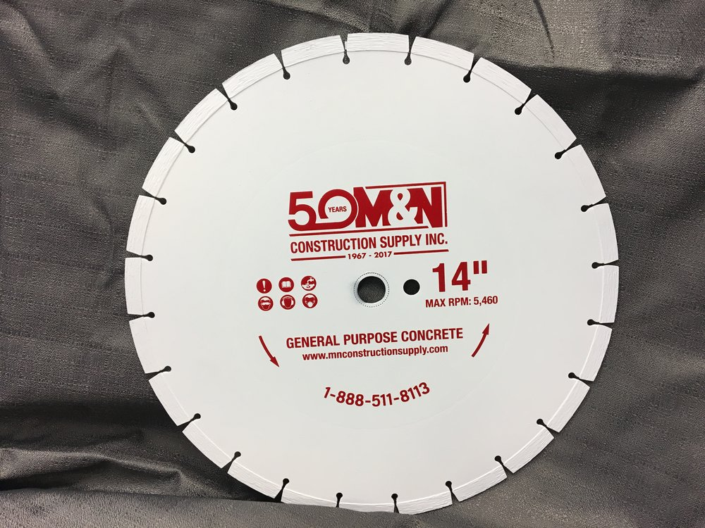 50 Year Anniversary General Purpose Concrete Blade, now avaiable at all 3 locations.