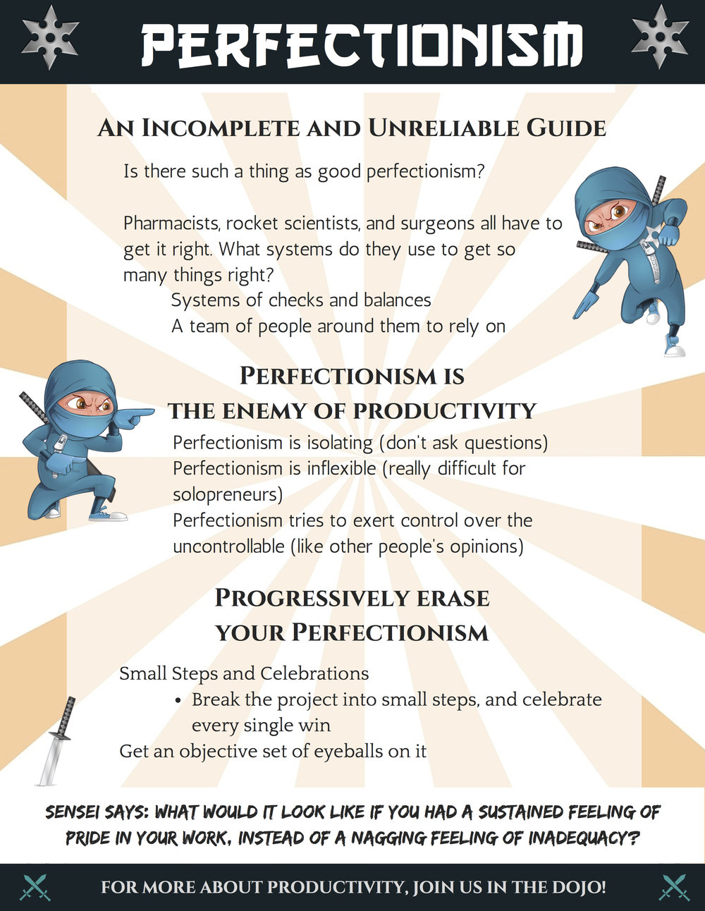 Perfectionism: An Incomplete and Unreliable Guide