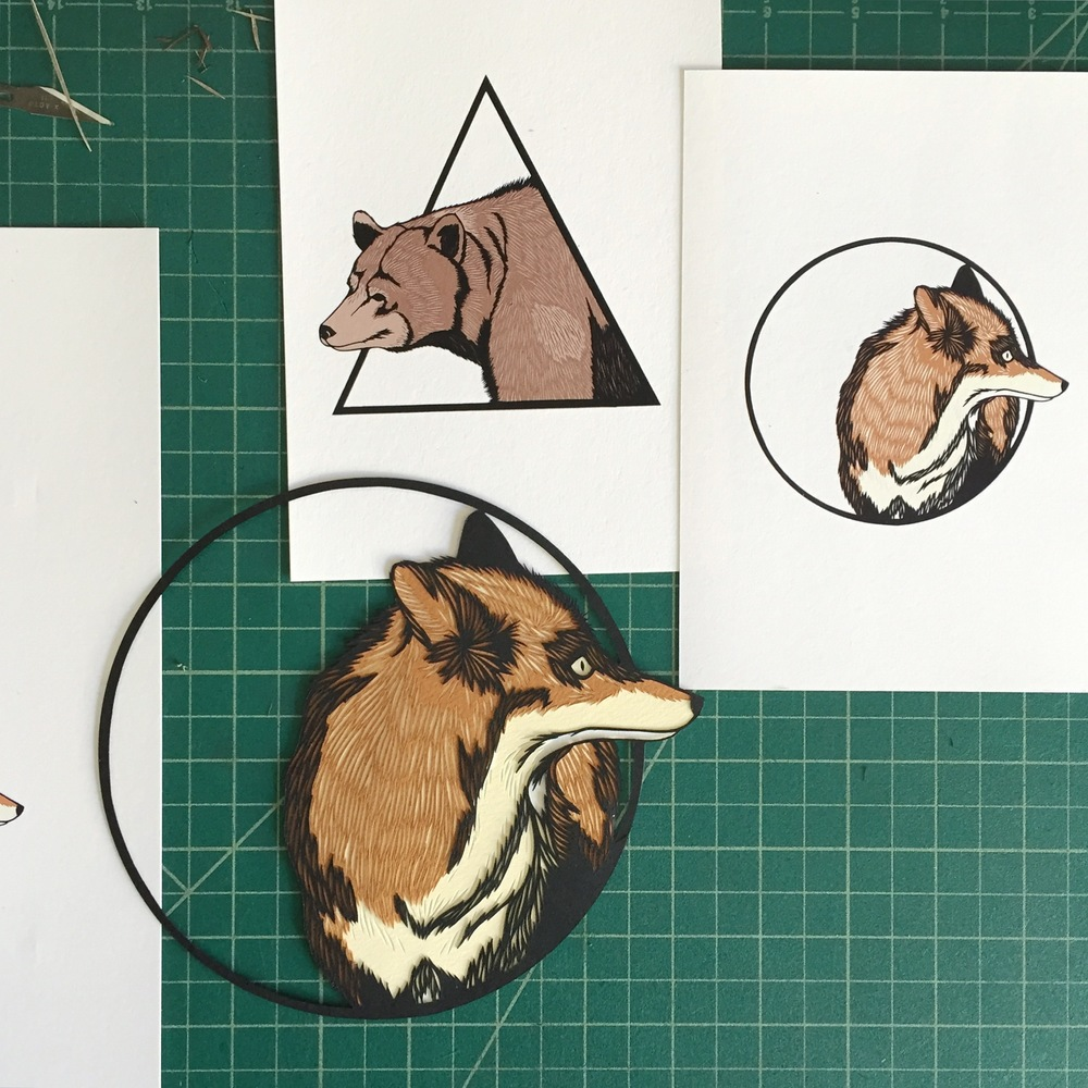 New series of multi-layer animal cuts.