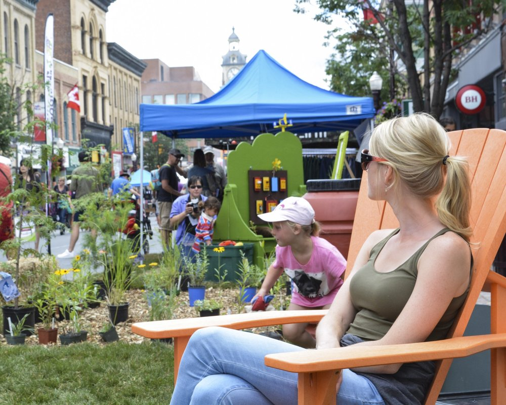 Pop-up park on George St.