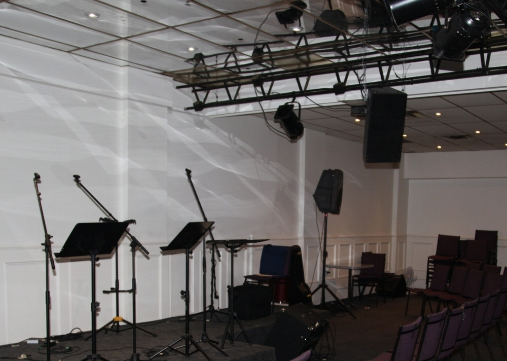 We have a full inventory of sound equipment for any event - from concerts, receptions, business meetings and fundraisers. We have what you need to look and sound great while speaking. We also have the staff to operate it. We have a graphic designer to help create posters, postcards, business cards etc to help promote your event as well as access to affordably priced printing for any hand-outs your event may have. We have an incredible coffee bar that can be staffed for any of your events if requested. We have an in house baker that can provide snacks for your event upon request.