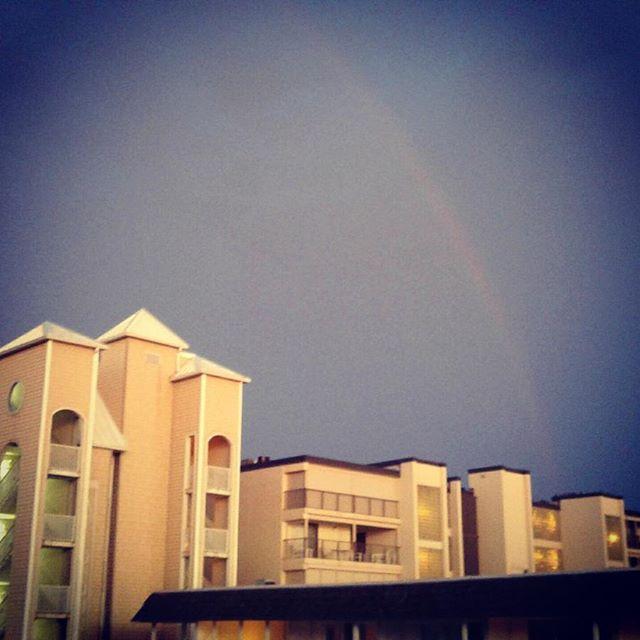 Evening Ocean City rainbow. #ocmd #delmarva
