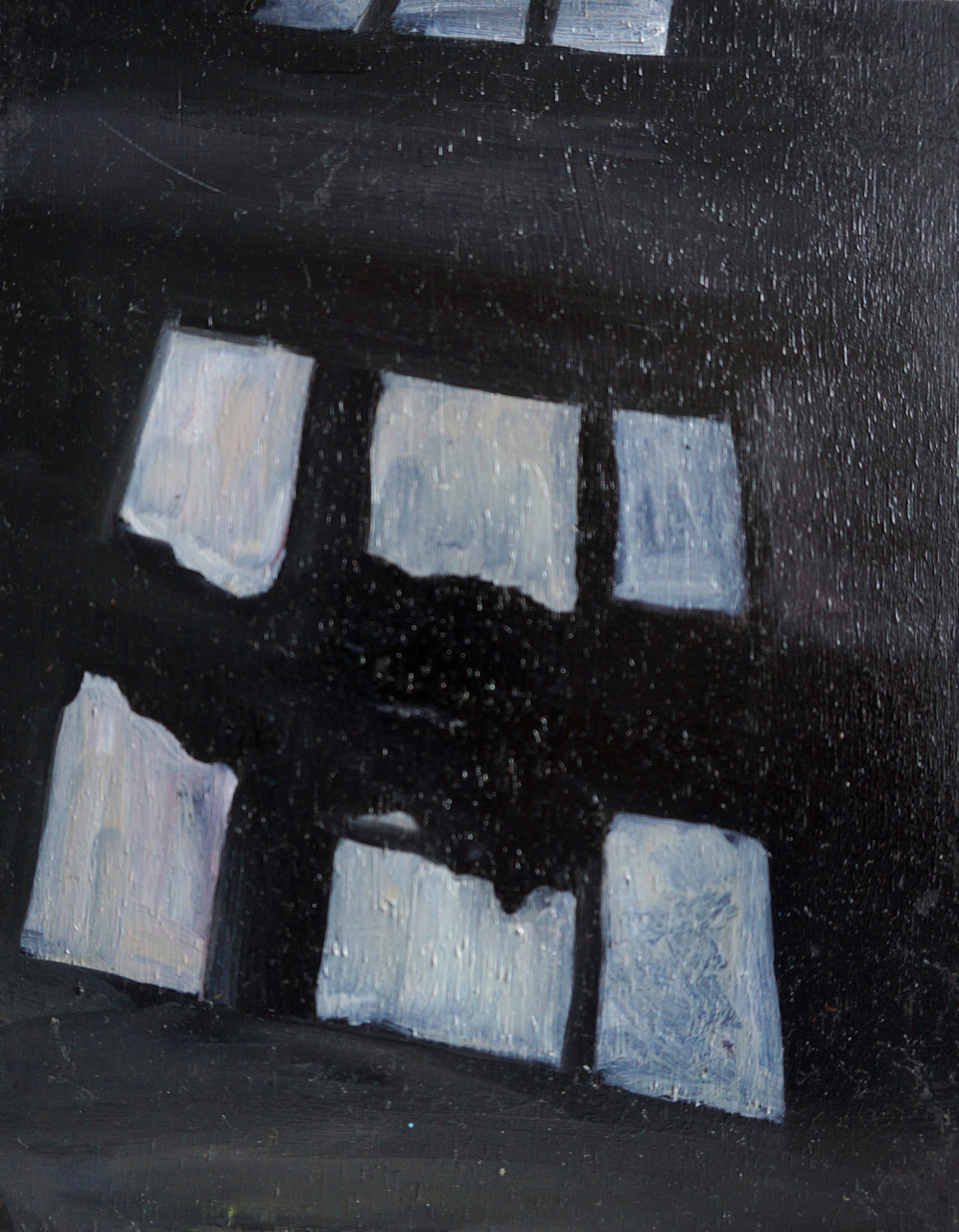 15 x 12 cm, pastels and oil paint on wood, 2014, Poland series