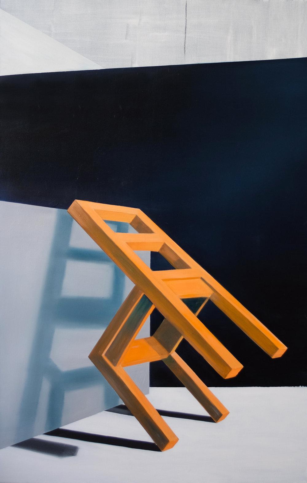 untitled, 140 x 90 cm, olieverf op doek, 2017