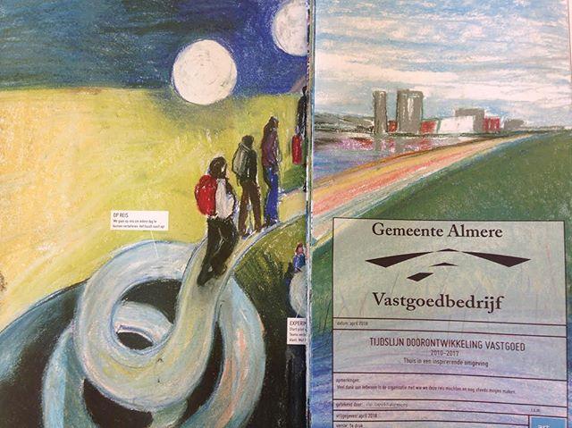 'Time Line' #debeeldvormers #vastgoed #gemeentealmere #artpartner #almere #pasteldrawing #5meter #ontwikkeling #tijdslijn #2010-2017 #timelinedrawing #timeline #handmadebook #vastgoedbedrijfalmere #jollijst