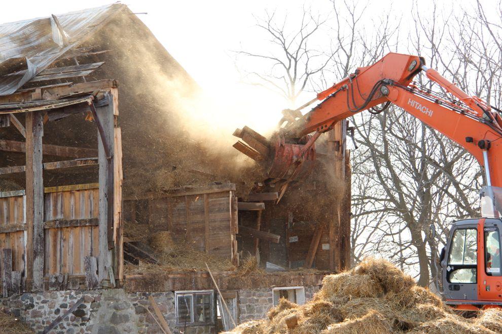 A Barn Comes Down